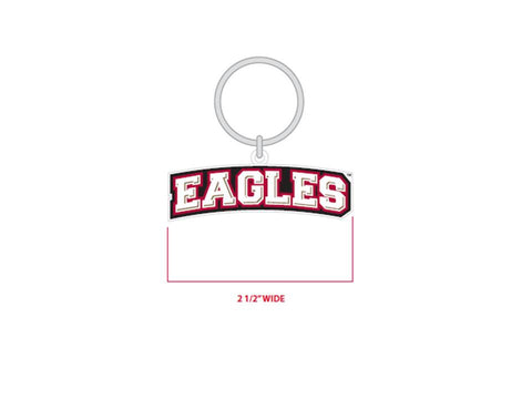 "Bridgewater College ""Eagles"" PVC Key Chain"