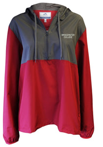Bridgewater College Summit Full Zip Crimson/ Charcoal Windbreaker