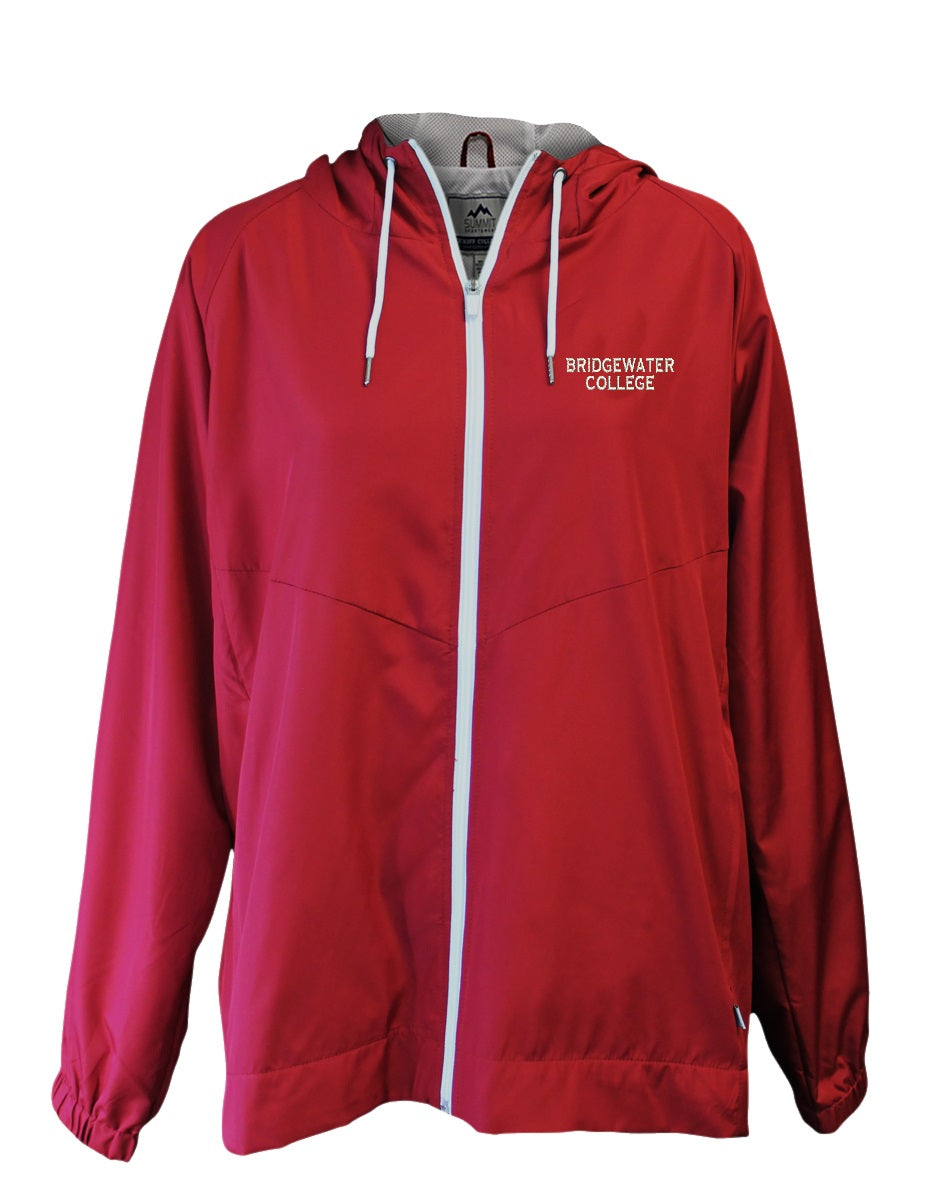 Bridgewater College Summit Full Zip Women's Crimson Hooded Jacket
