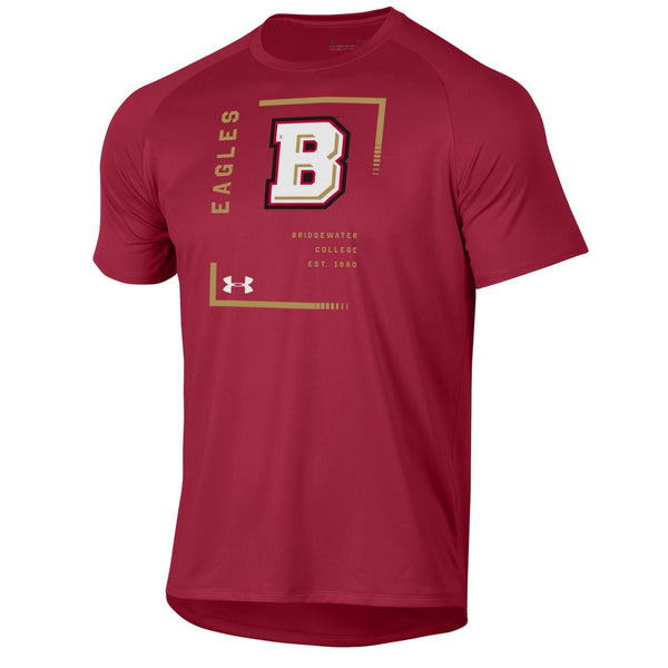 UA Crimson Short Sleeve Square B Tech Tee