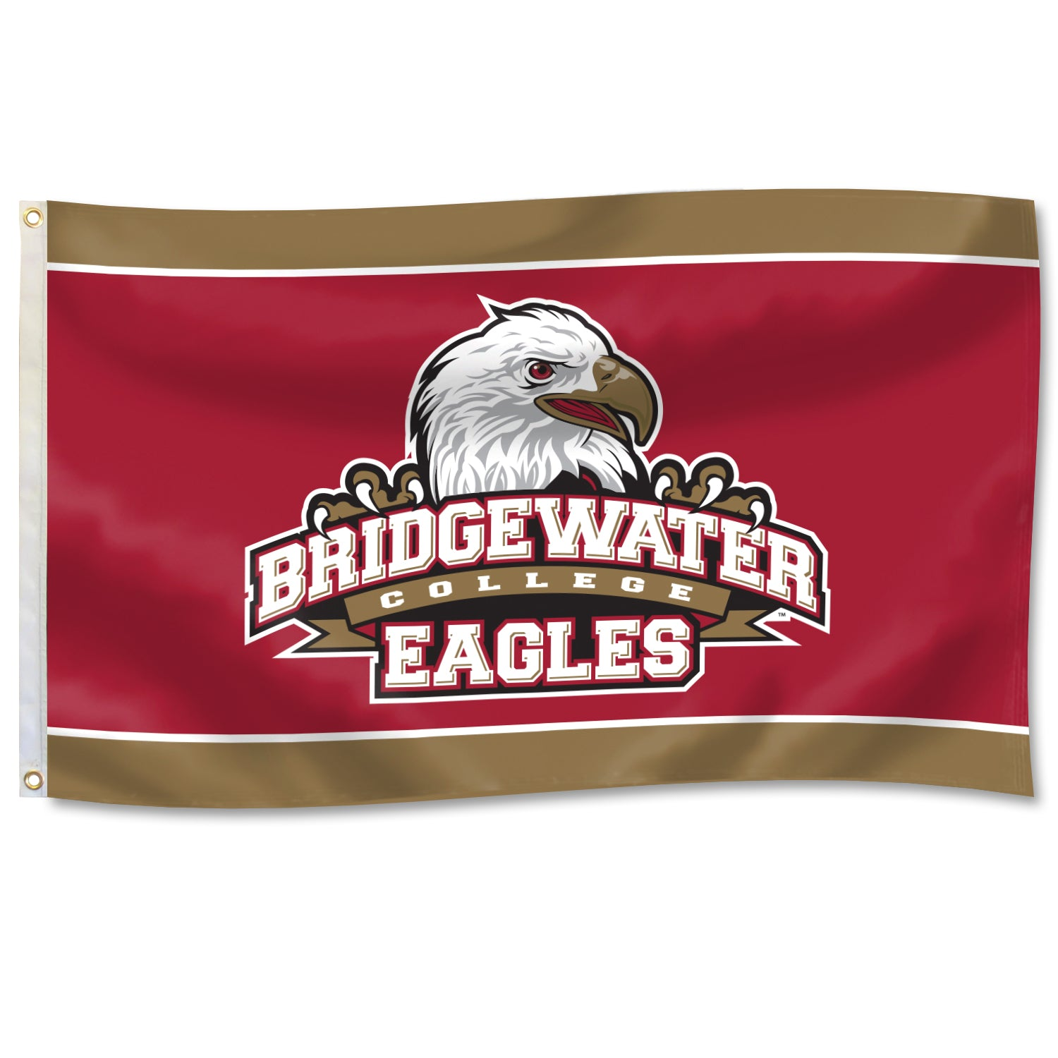 DuraWave Bridgewater College with Gold Boarder Athletic Logo Flag