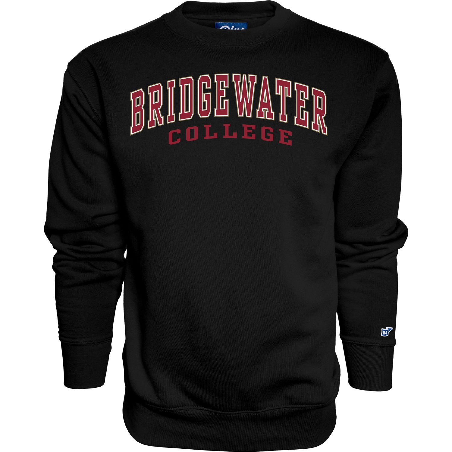 Blue 84 Classic Black Bridgewater College Crew
