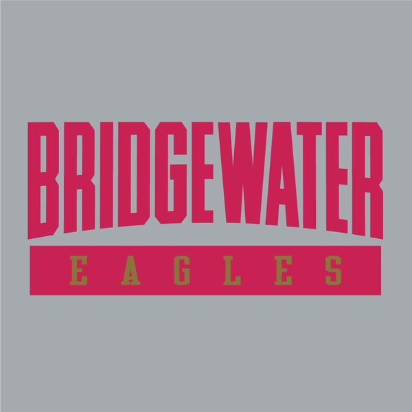 Bridgewater College Champion Powerblend Felt Eagles Gray Crew