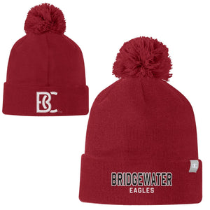 Bridgewater College Champion Solid Crimson Pom Pom Beanie