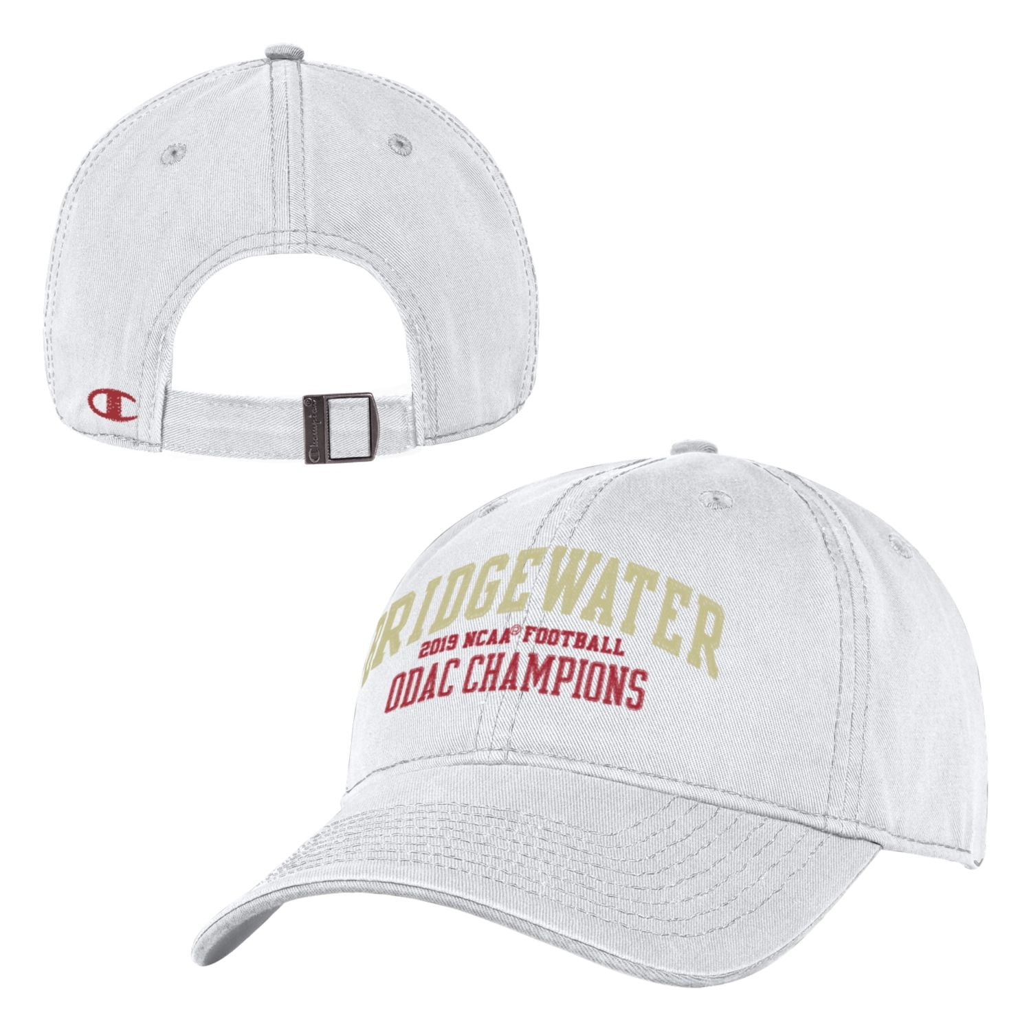 Bridgewater College White ODAC Champions Football Hat