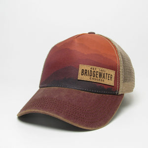 Legacy Structured Trucker Mountain Sunset Hat
