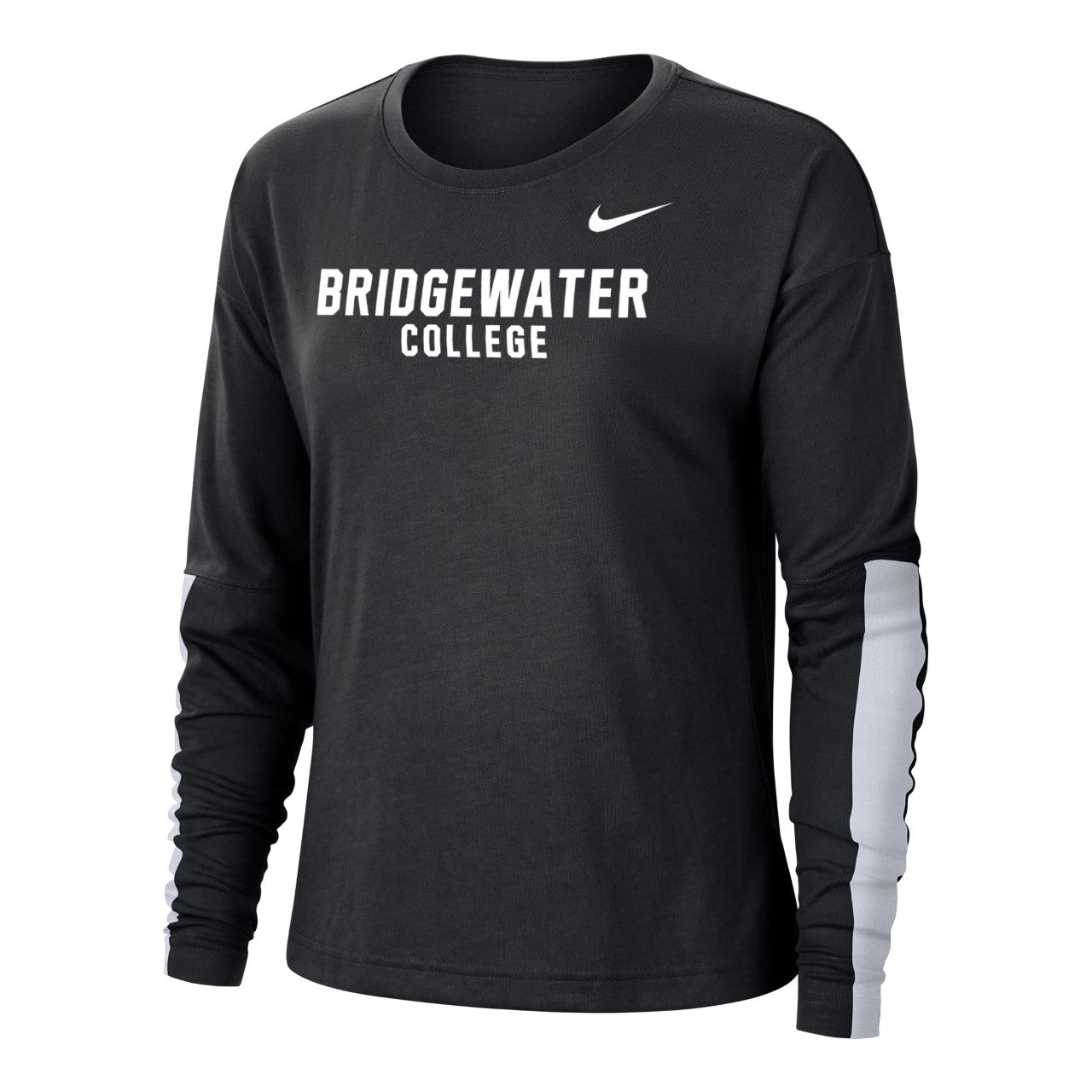 Nike Bridgewater College Womens Breathe Long Sleeve Black Tee