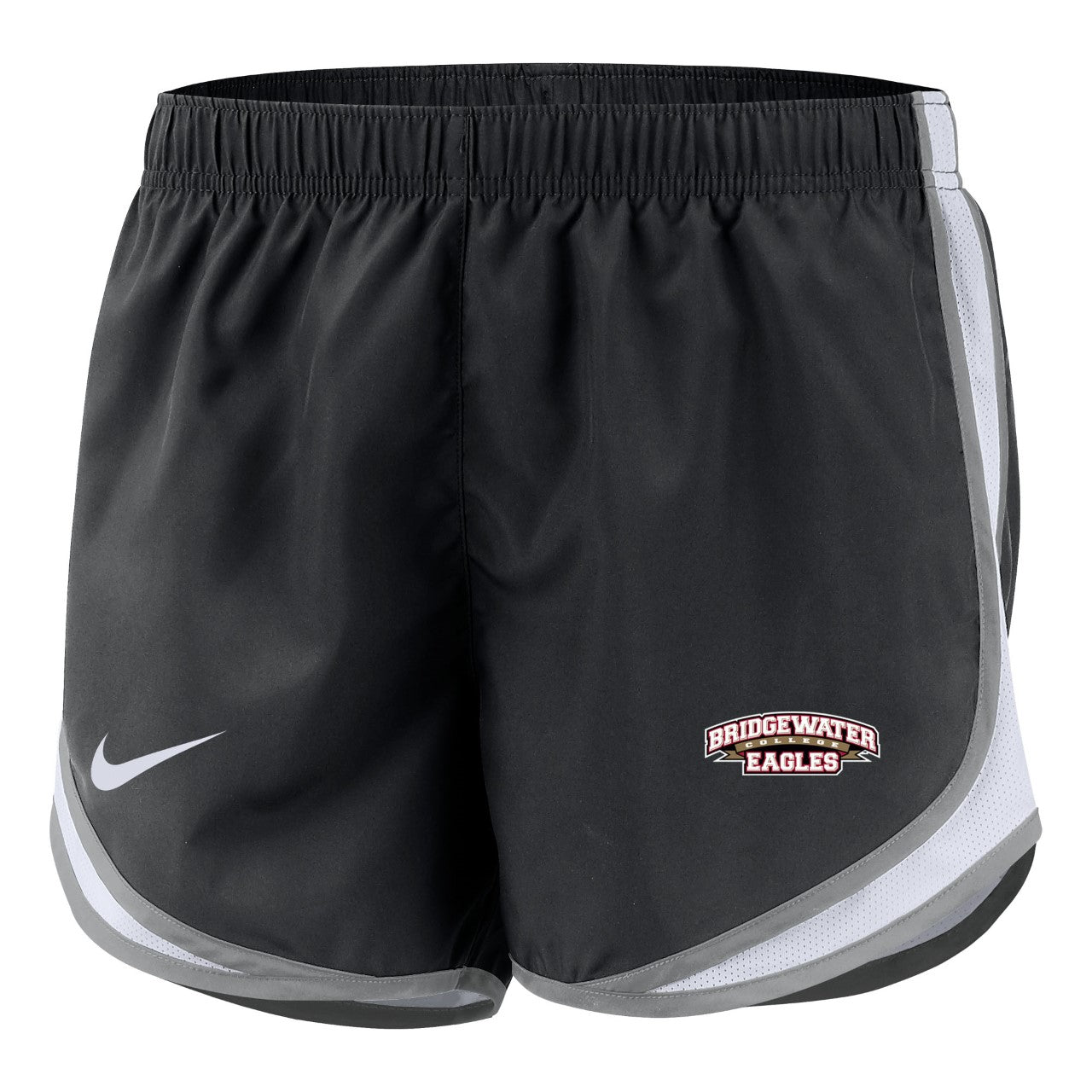 Bridgewater College Womens Black/Gray Nike Tempo Short