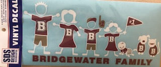 Bridgewater College Large Family Decal