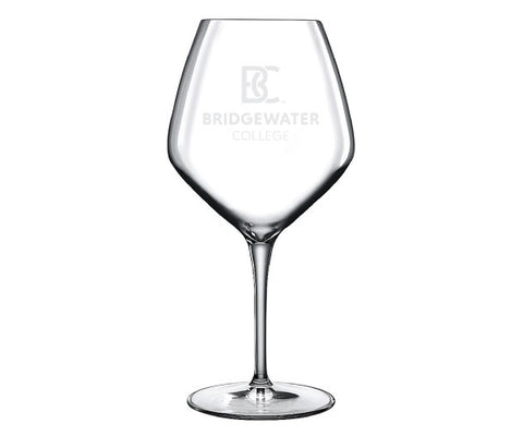 Bridgewater College BC Luigi Bormioli 22oz Etched Wine Glass