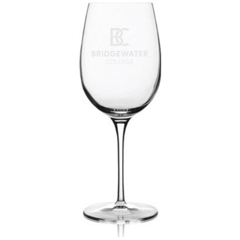 Bridgewater College BC Luigi Bormioli 13oz Etched Wine Glass