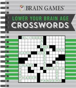 CROSSWORD LOWER YOUR BRAIN AGE BRAIN GAMES - Bookseller USA