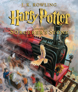 Harry Potter and the Sorcerer's Stone: The Illustrated Edition (Book 1) Hardcover - Bookseller USA