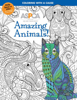ASPCA Adult Coloring Book for Pet Lovers: Amazing Animals! (Paperback) - Bookseller USA