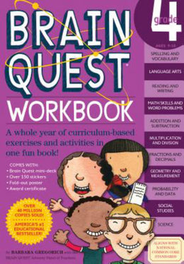 Brain Quest Workbook Grade 4 (Paperback)