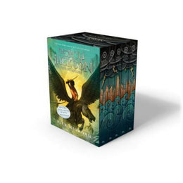 Percy Jackson and the Olympians 5 Book Paperback Boxed Set (new covers w/poster) - Bookseller USA