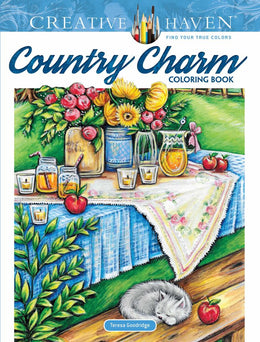 Creative Haven Country Charm Coloring Book (Adult Coloring) Paperback