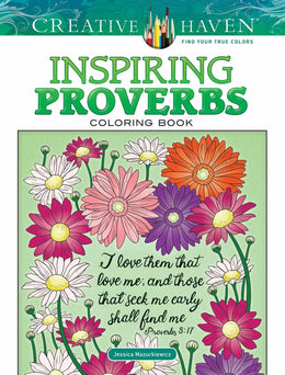 Creative Haven Inspiring Proverbs Coloring Book (Adult Coloring) Paperback