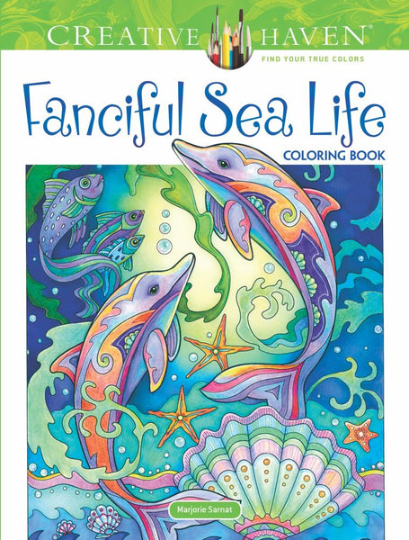 Creative Haven Fanciful Sea Life Coloring Book (Adult ...