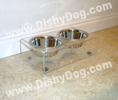 "4"" Dishy Dog diner - (double bowl)"