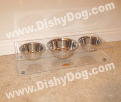 "4"" Triple Dishy diner - (two 1 qt & one 2 qt bowl)"