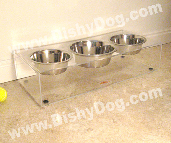 "6"" Triple Dishy diner - (two 2 qt & one 3 qt bowls)"