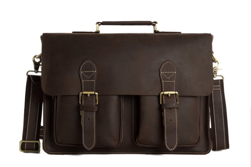 Handcrafted Leather laptop briefcase