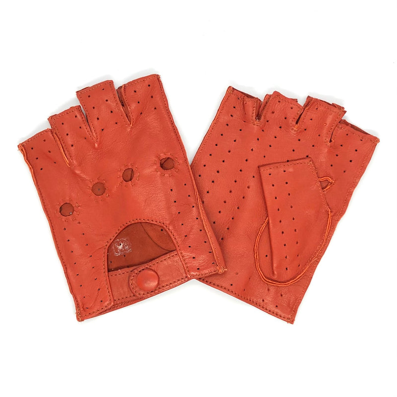 Classic Red Short fingers leather gloves