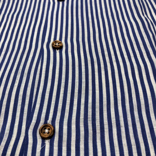 The Linen gentleman's stripes - Bowling short sleeves shirt