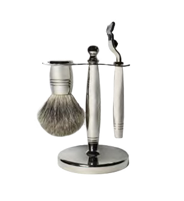 Men's Heritage - Edwardian Shaving Set for Mach3 - Silver chrome - MITCHUMM Industries
