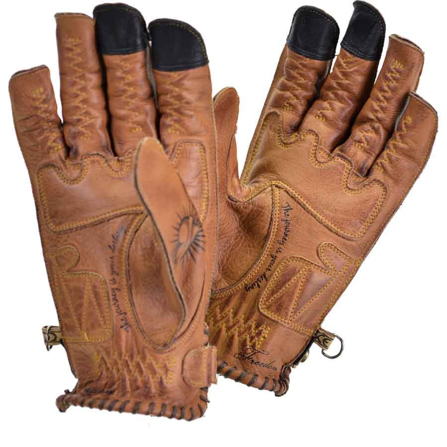 Tattoo leather gloves