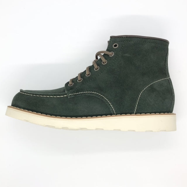 Suede Bottle green boots