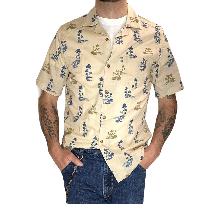 Palm trees are the solution! - Bowling short sleeves shirt