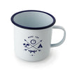 Camping white enamel can mug - MITCHUMM Industries  - 1