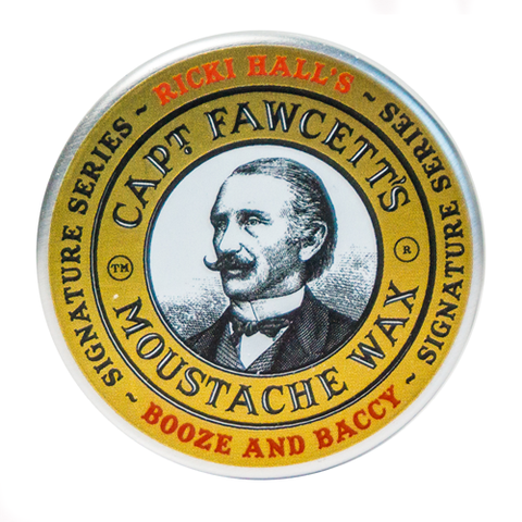 Captain Fawcett  - Ricki Hall Booze & Baccy Moustache Wax - MITCHUMM Industries  - 1