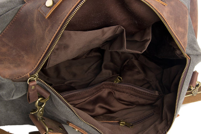 Canvas & Leather Travel Bag