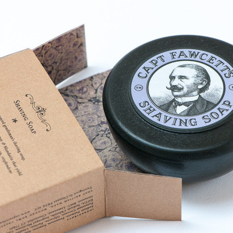 Captain Fawcett - Luxurious Shaving Soap + wooden bowl - MITCHUMM Industries  - 3