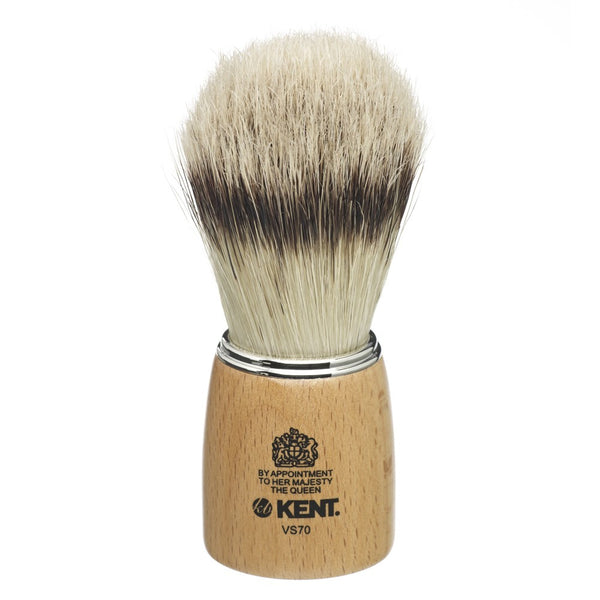 GB Kent - Wooden socket, large size, pure bristle (badger effect) shaving brush - MITCHUMM Industries