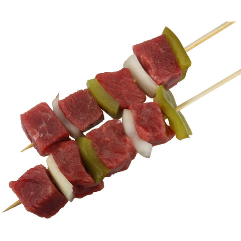 Lamb, Pepper and Onion Brochette