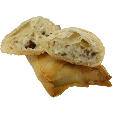 Brie, Bacon And Onion Confit Filo Triangle