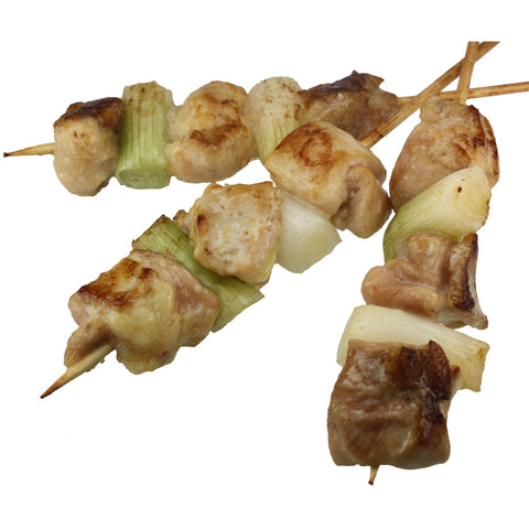 Chicken Thigh Meat and Green Onion Brochette