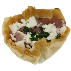 Carmelized Onions And Feta In Filo Cup