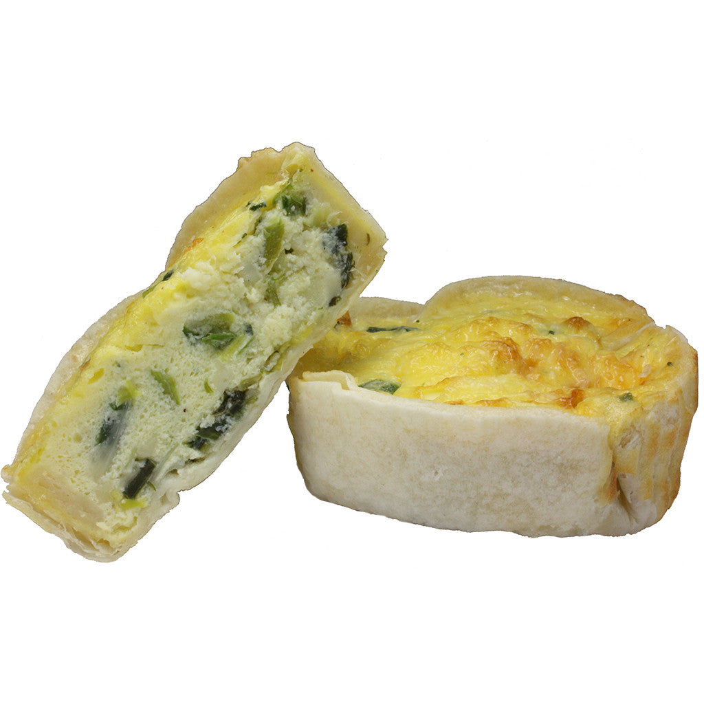 Leek And Cheese Quiche Cup
