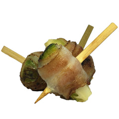Bacon Wrapped Brussel Sprout Brochette