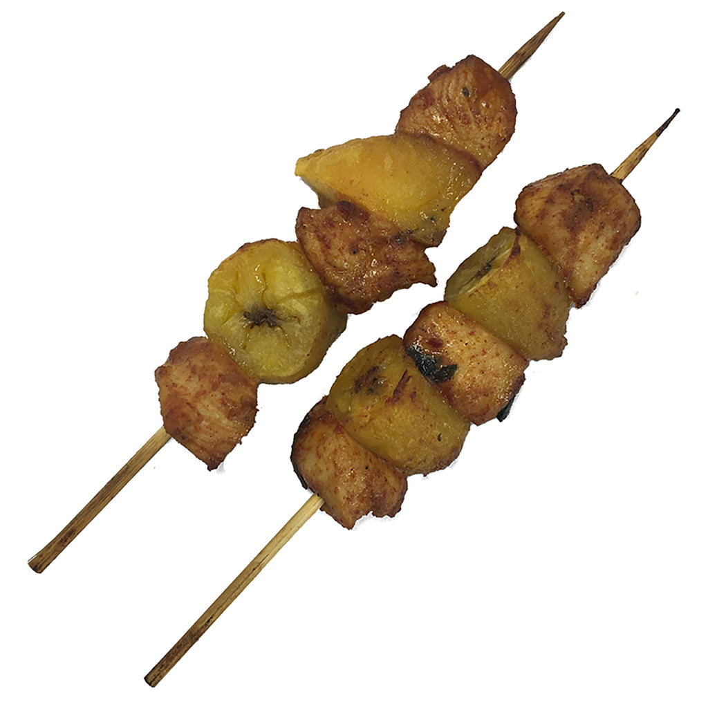 Guajillo Marinated Chicken Breast & Plantain Brochette 1oz