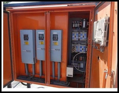2005 Technology Transfer Variable Frequency Drive Control Panel w/Cutler Hammer SVX9000 AF Drives