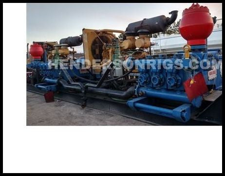(2) TSC WF700 (PZ8-9) Trailer Mounted Triplex Pumps