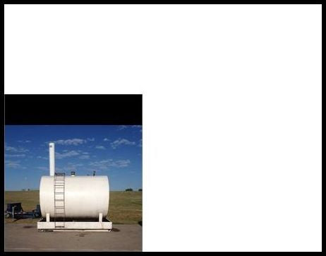 3300 Gallon skid mounted steel tank