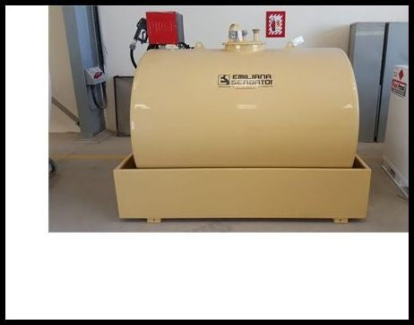 3,000 Liter Fuel Tank (Emiliana Serbatoi) - Skid Mounted