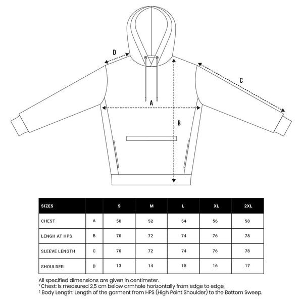 Size Guide Hoodie